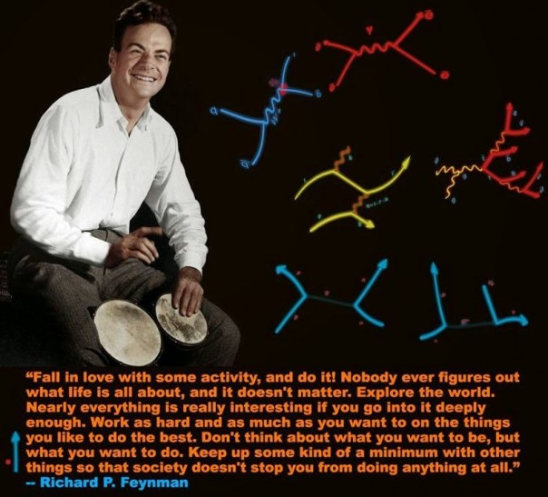 Feynman playing the bongo