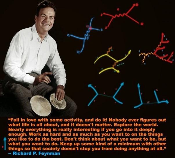 Feynman playing the bongo